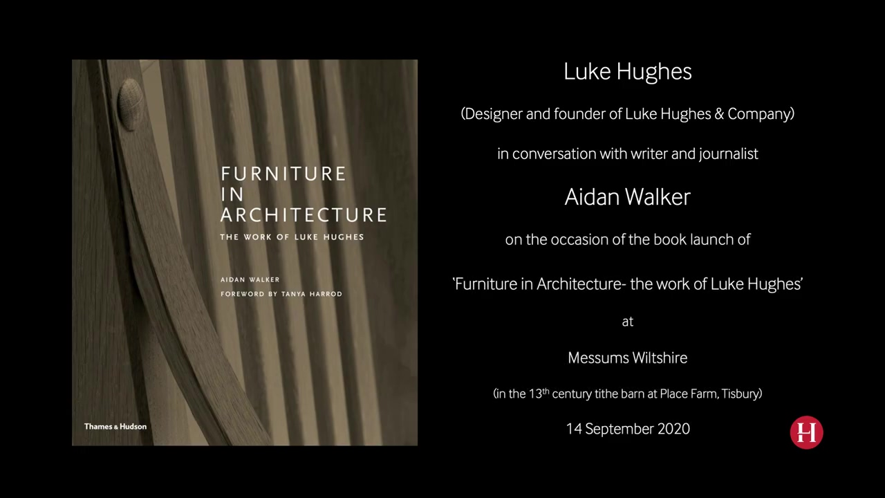 The book launch of Furniture in Architecture the Work of Luke Hughes