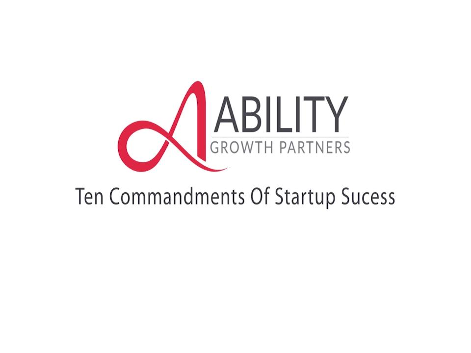 10 Commandments of Startup Success