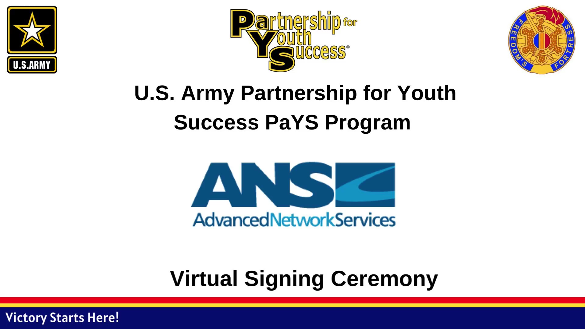 ANS Virtual Ceremony Army PaYs Program
