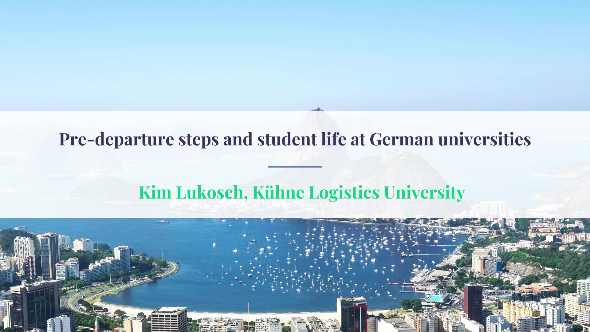 ECIE Americas Pre-departure steps and student life at German universities