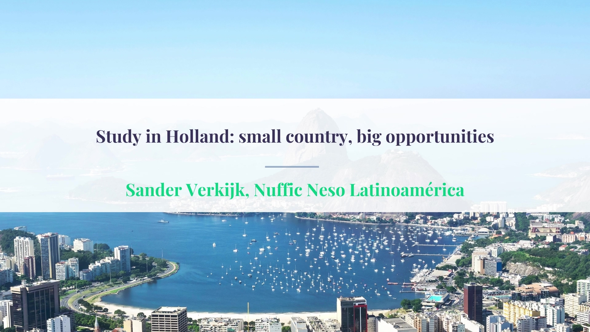 ECIE Americas Study in Holland small country, big opportunities