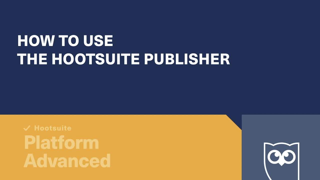 So verwenden Sie Hootsuite Publisher-Video