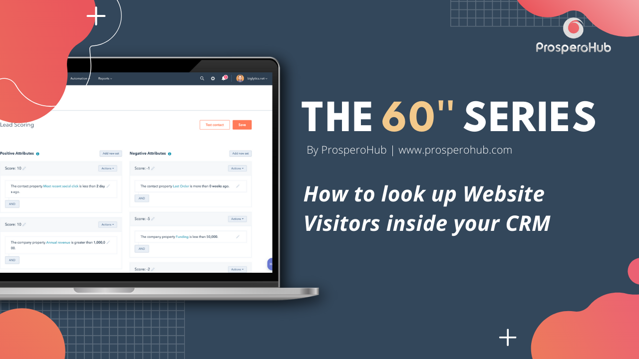 60 Second Series - Look Up Website Visitors inside your CRM