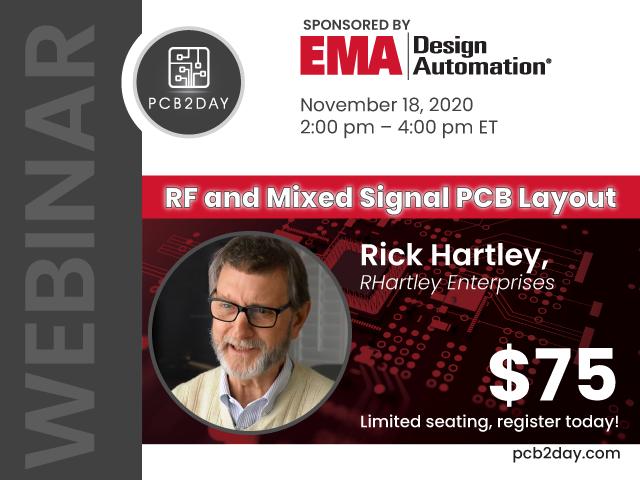 RF and Mixed Signal PCB Layout Webinar with Rick Hartley