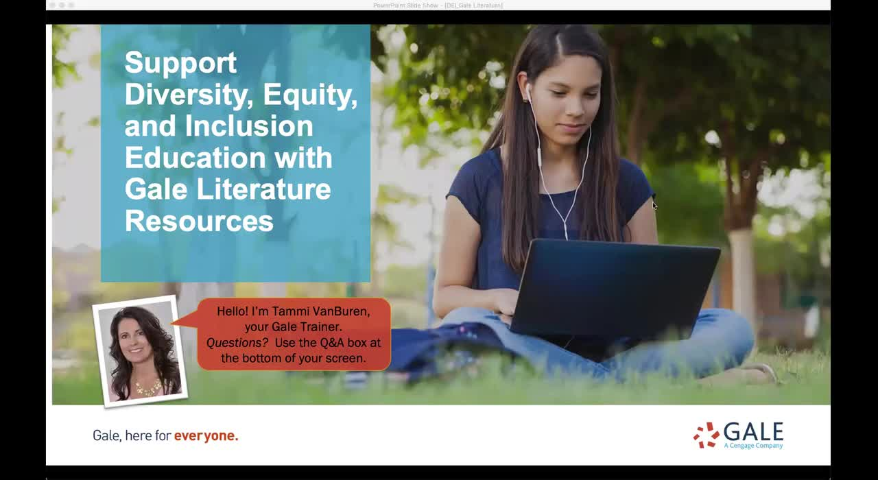 Support Diversity, Equity, and Inclusion Education with Gale Literature Resources Thumbnail