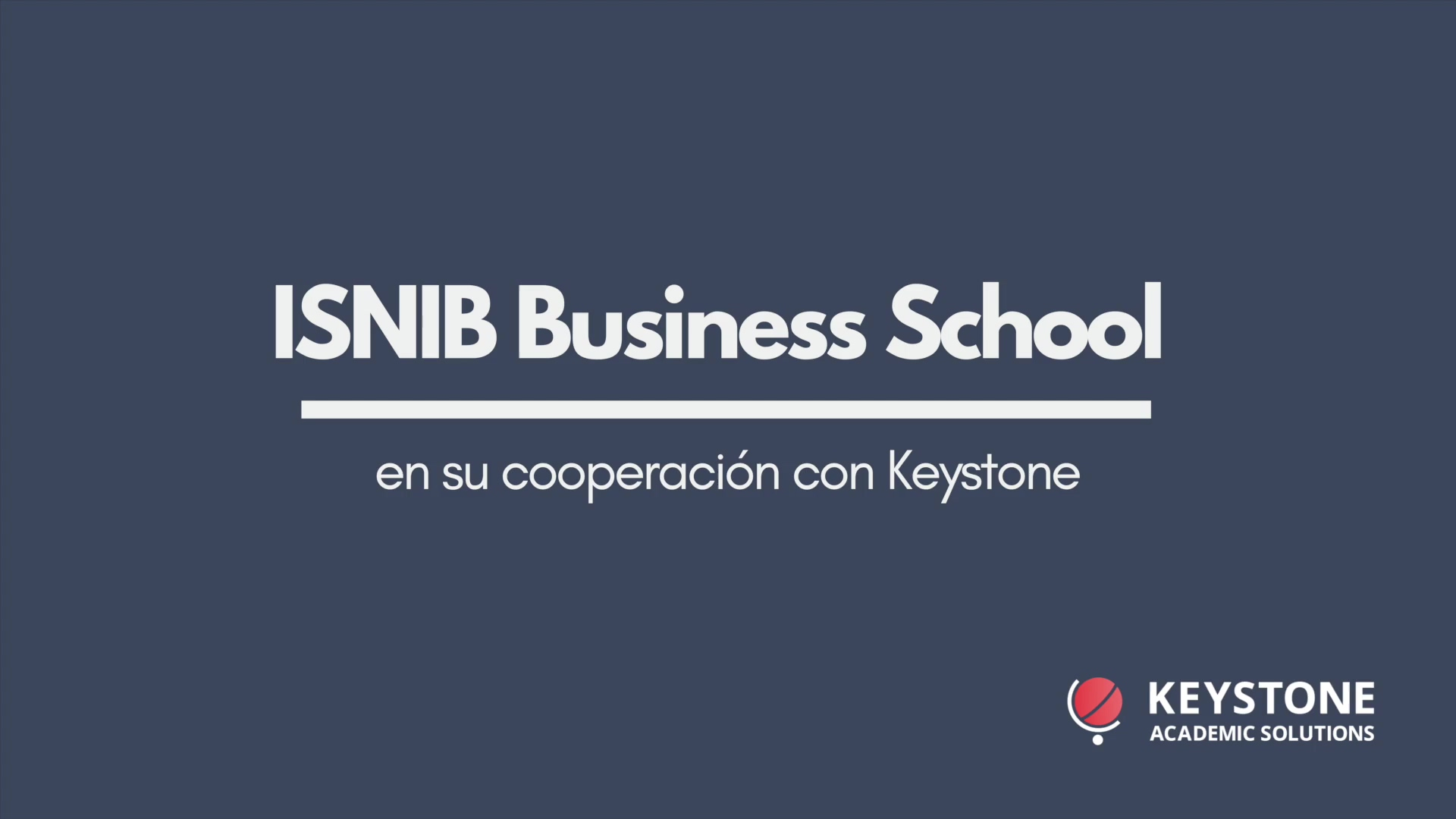 Keystone Video Testimonial - ISNIB Business School