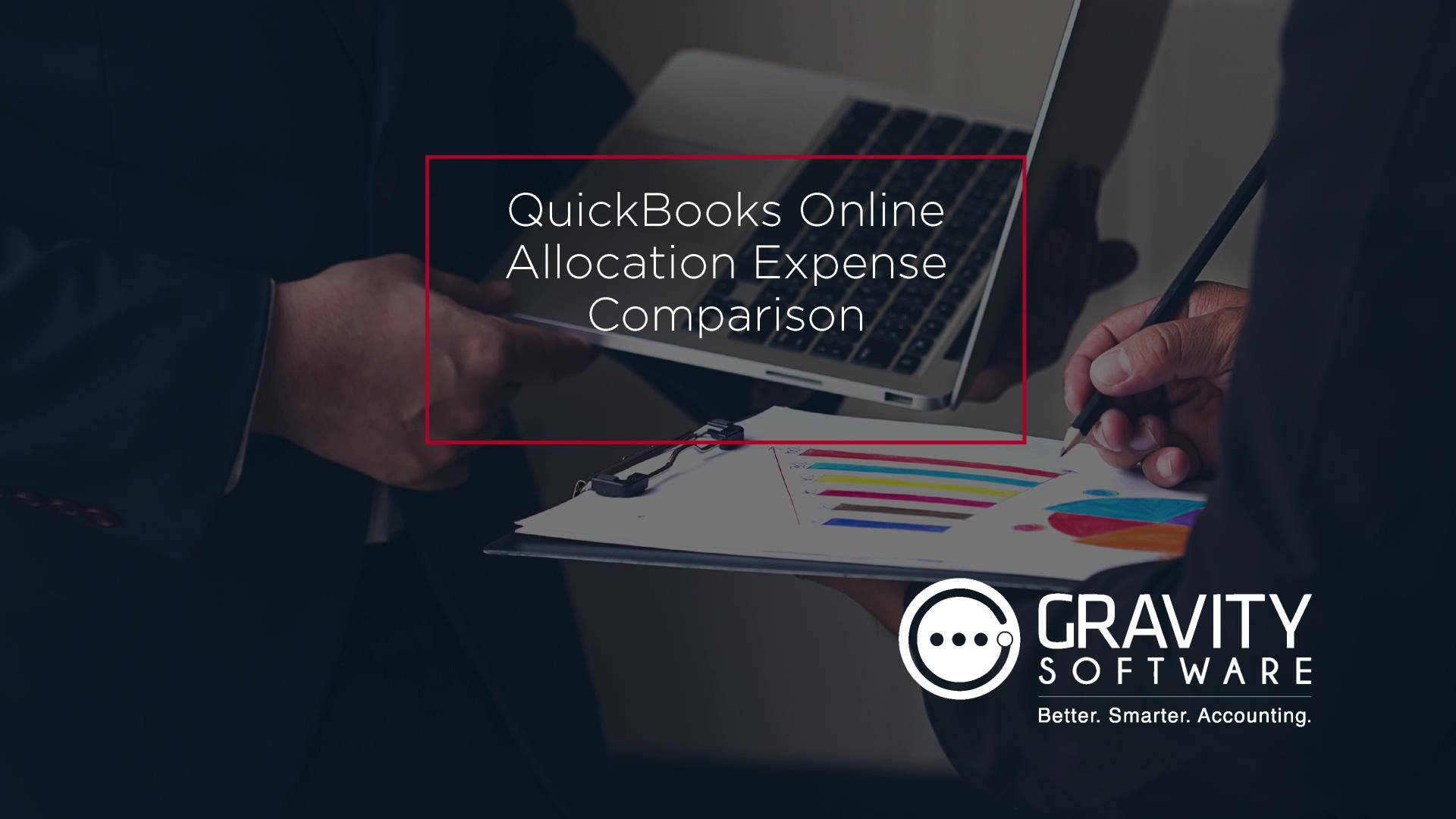 QuickBooks Online Allocation Expense Comparison