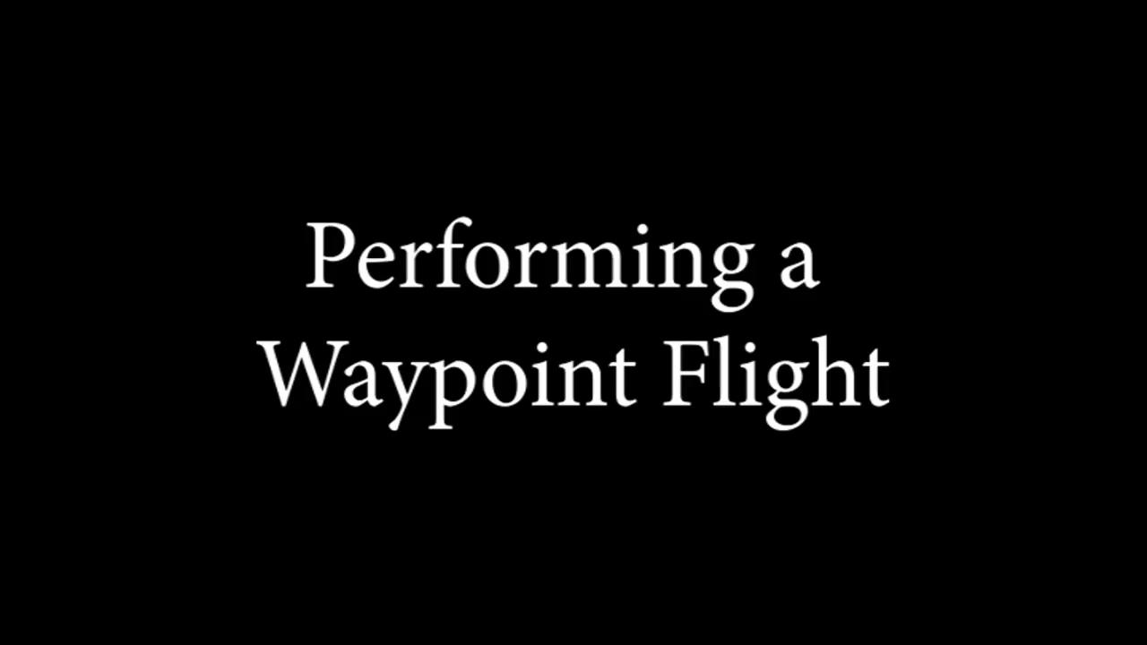 Waypoint Flight