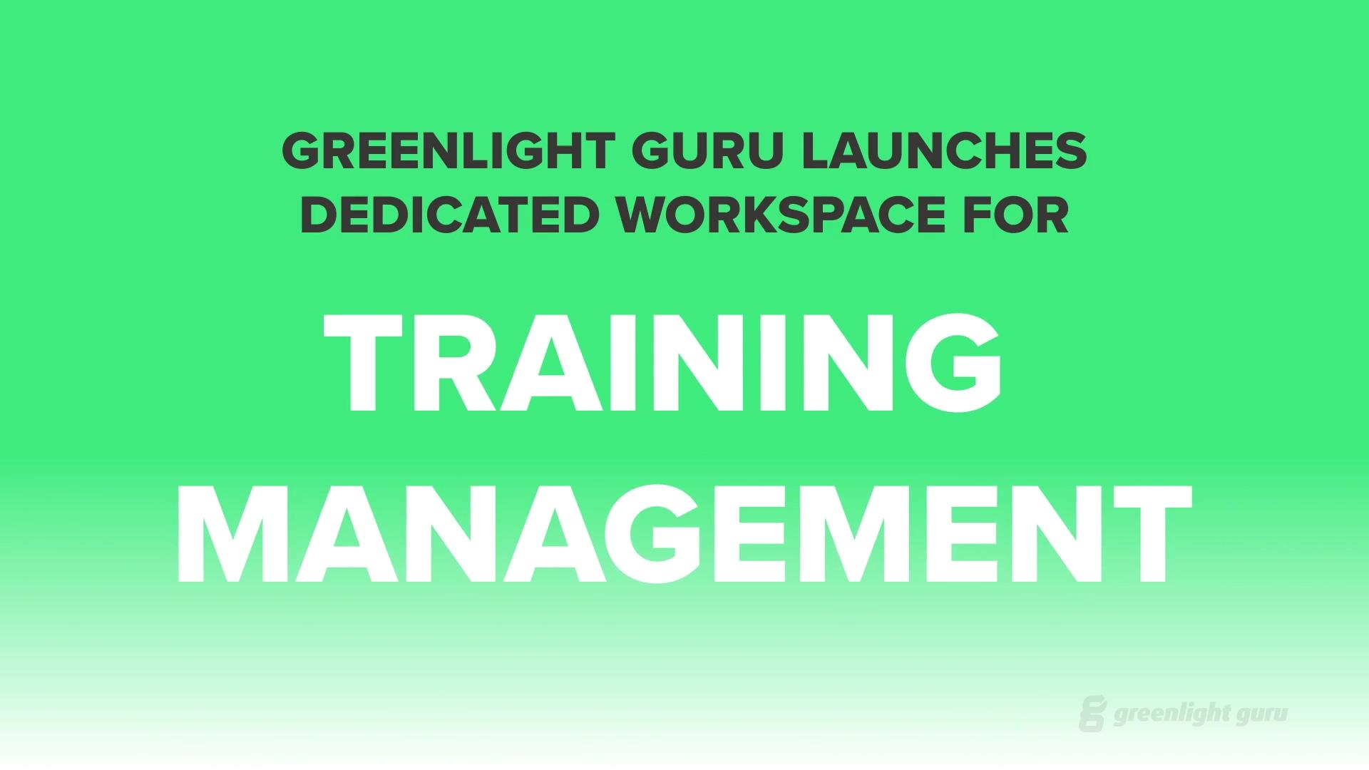 Training Launch Video