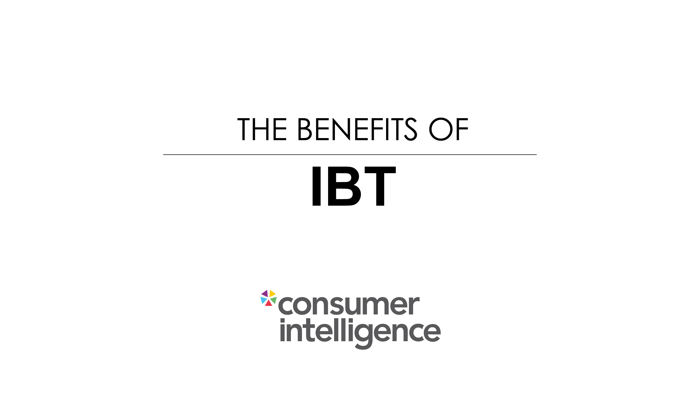 Ian Hughes The Benefits of IBT