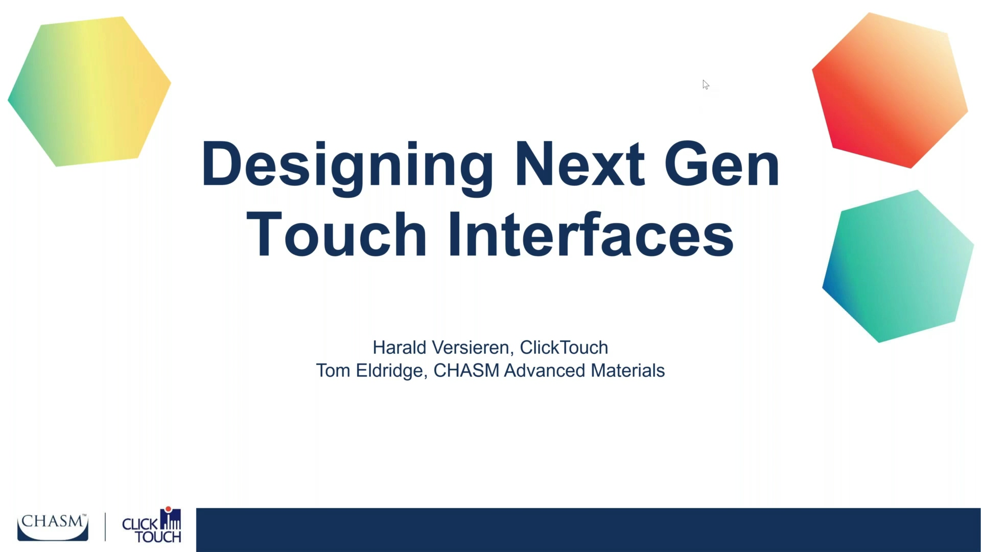 ( WEBINAR ) Designing Next Gen Touch Interfaces - Touch