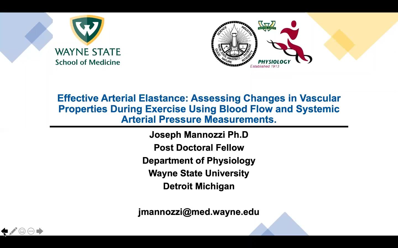 Effective Arterial Elastance Webinar