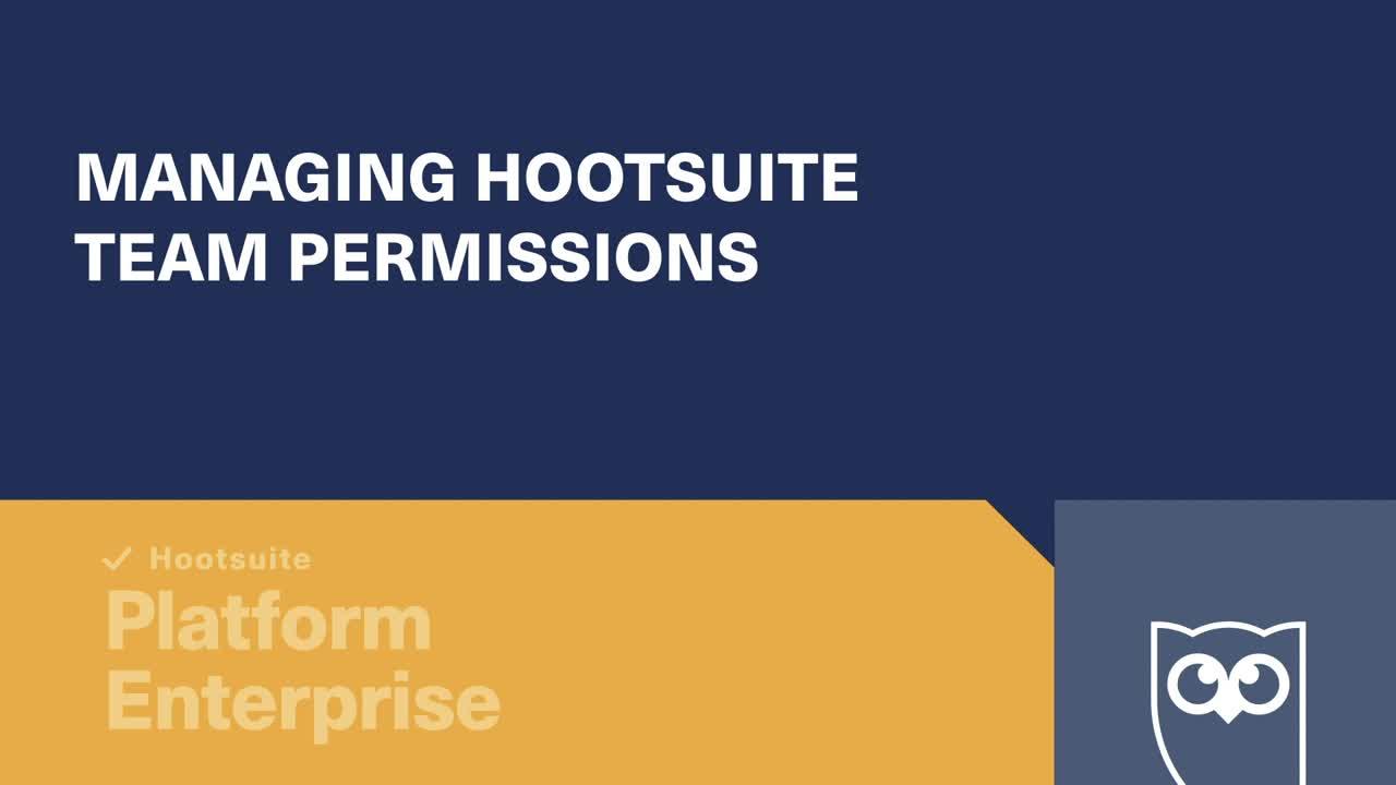 Video sulla gestione delle autorizzazioni del team di Hootsuite