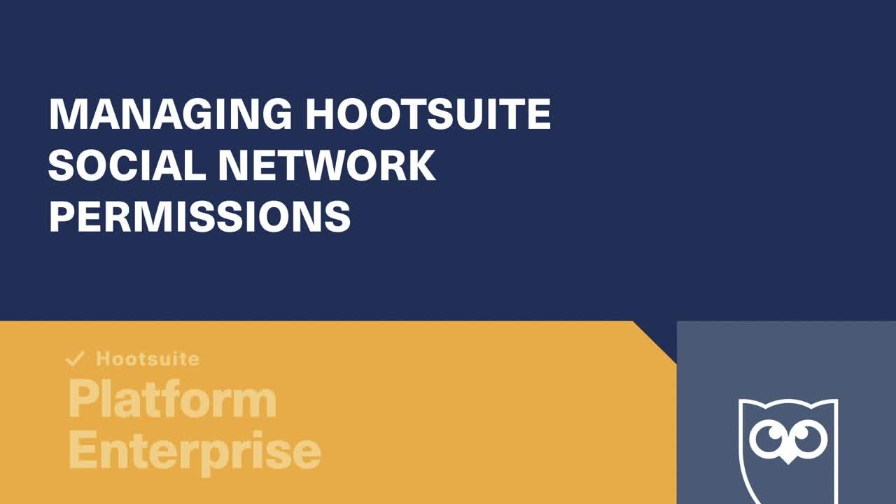 Video sulla gestione delle autorizzazioni dei social network Hootsuite