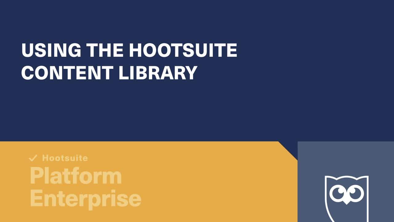 Vídeo Uso da biblioteca de conteúdo da Hootsuite