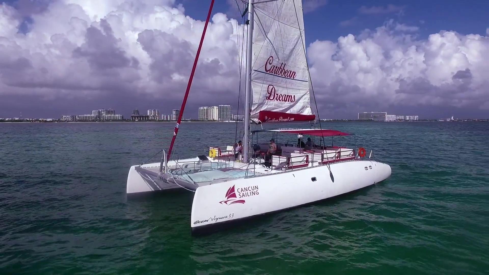 Video - Caribbean Dreams Catamaran - Cancun Sailing