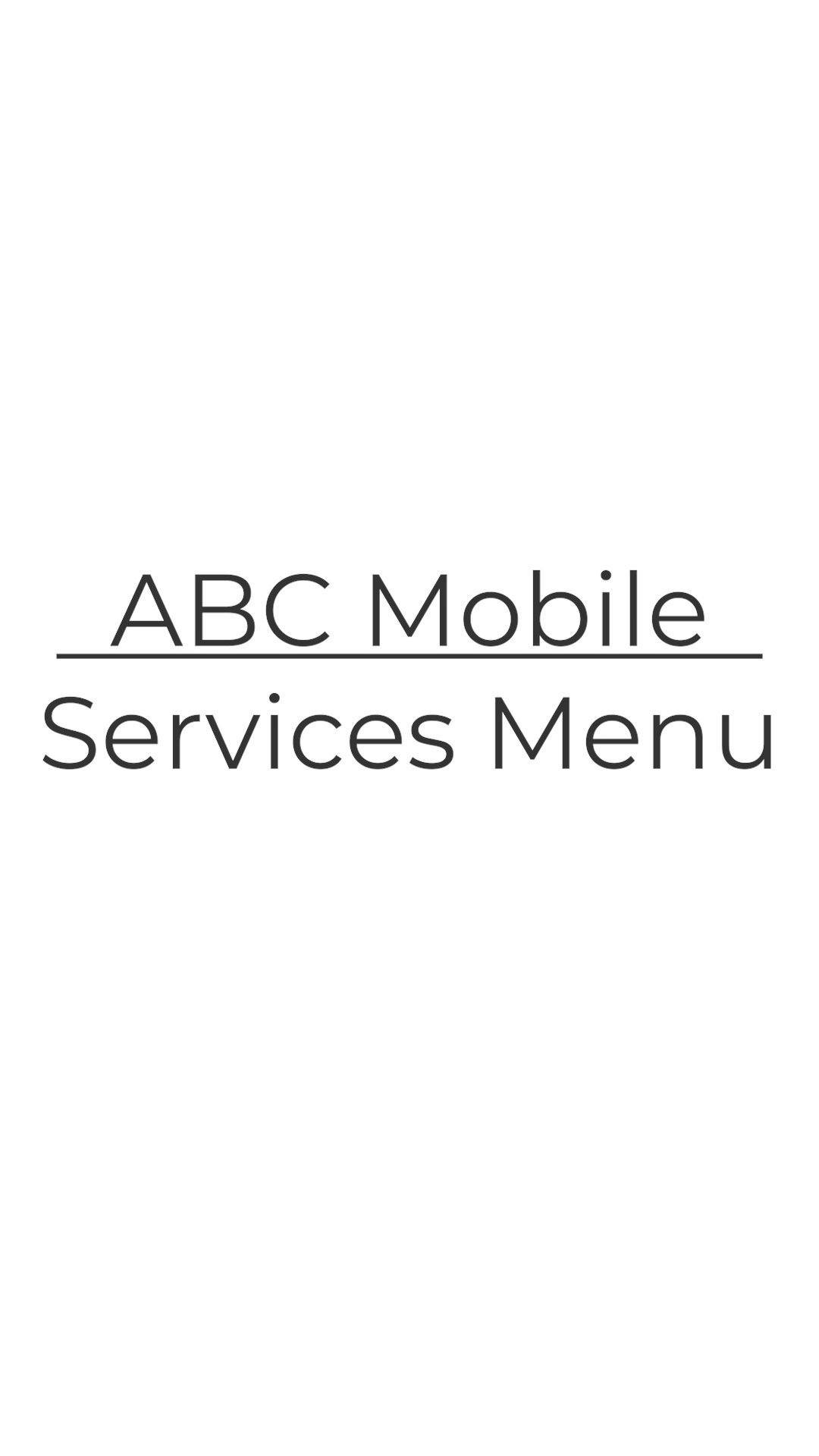 3 Services Menu