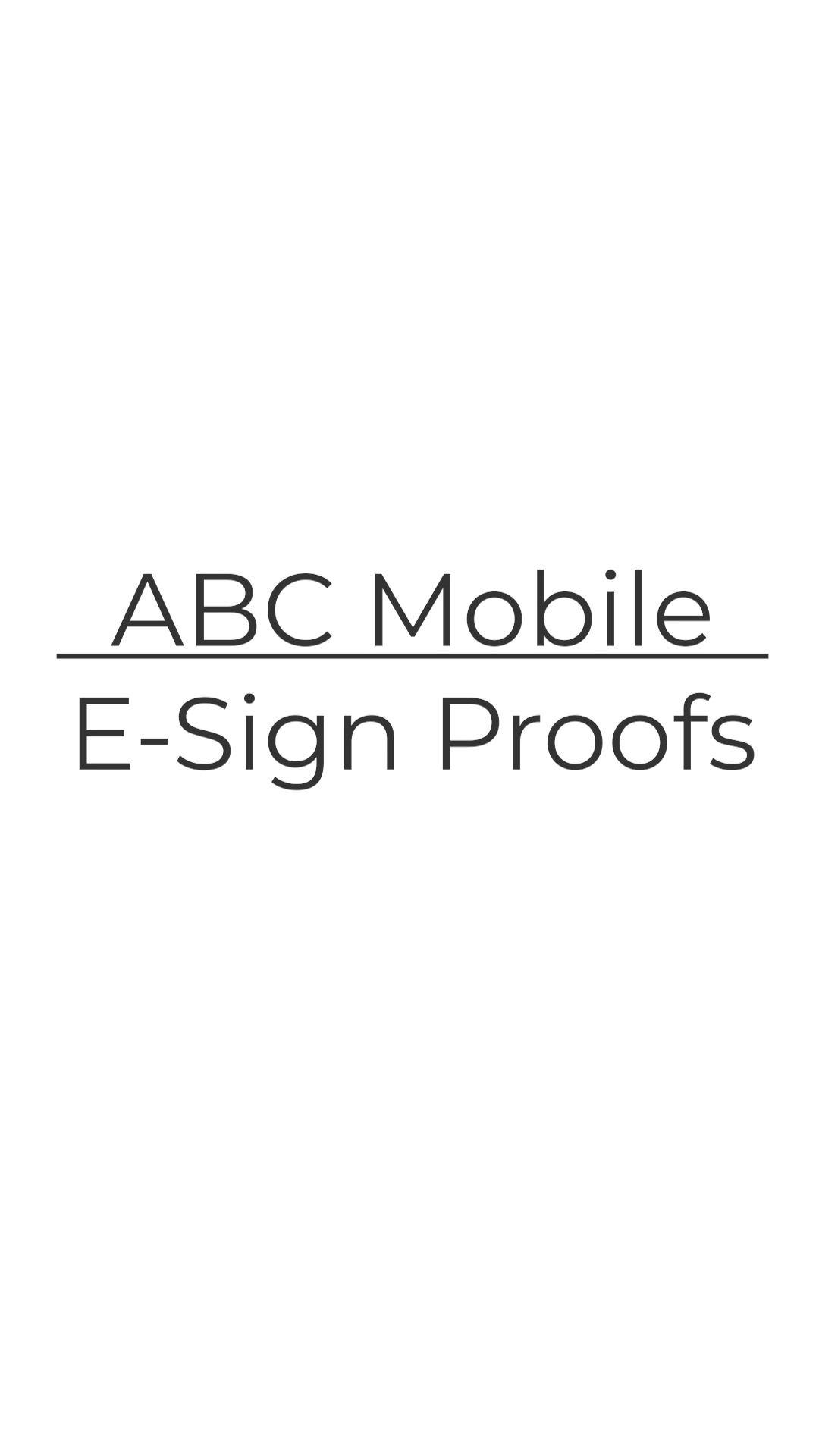 10 E-Sign Proofs