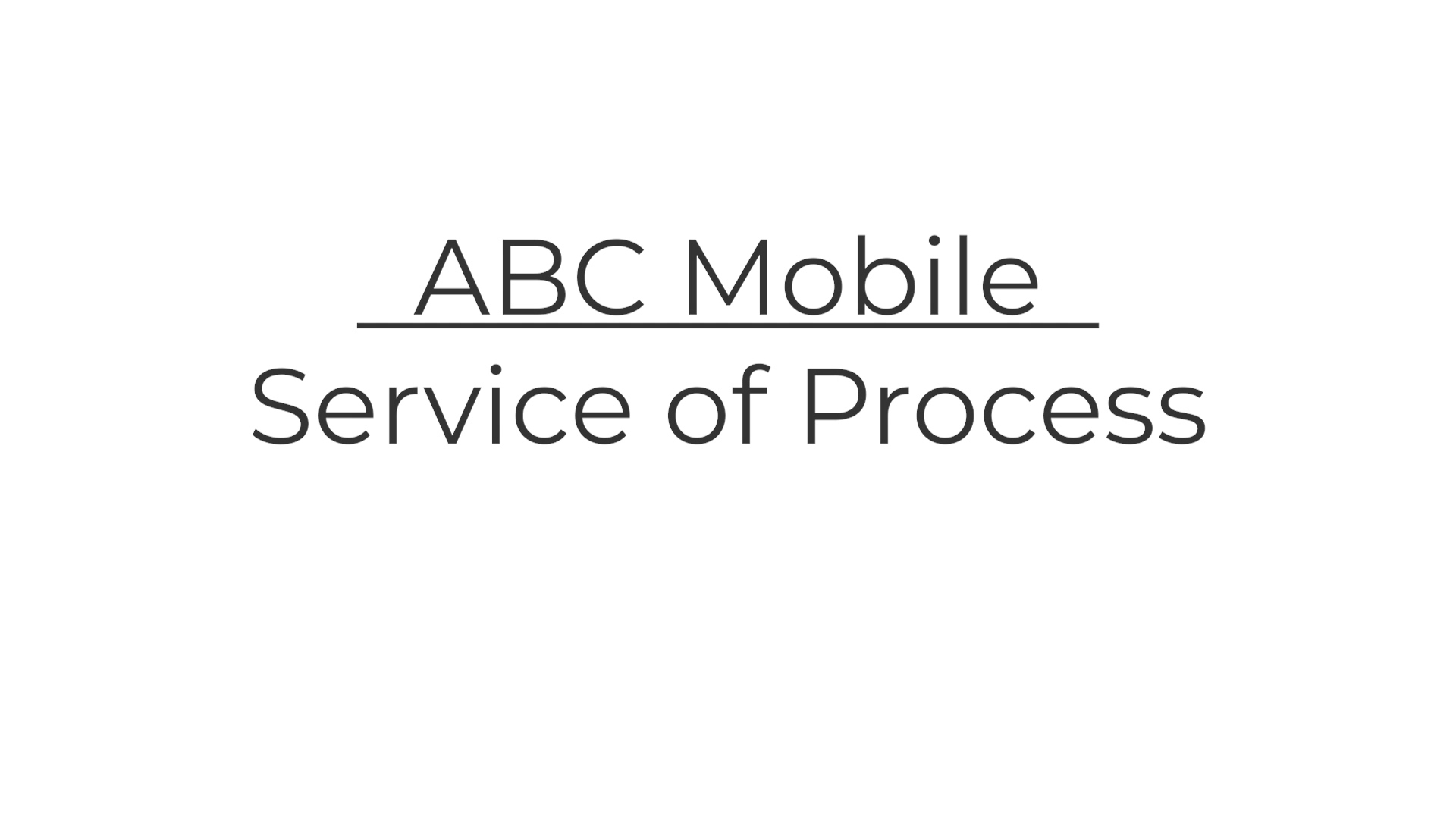 1 Intro to Service of Process