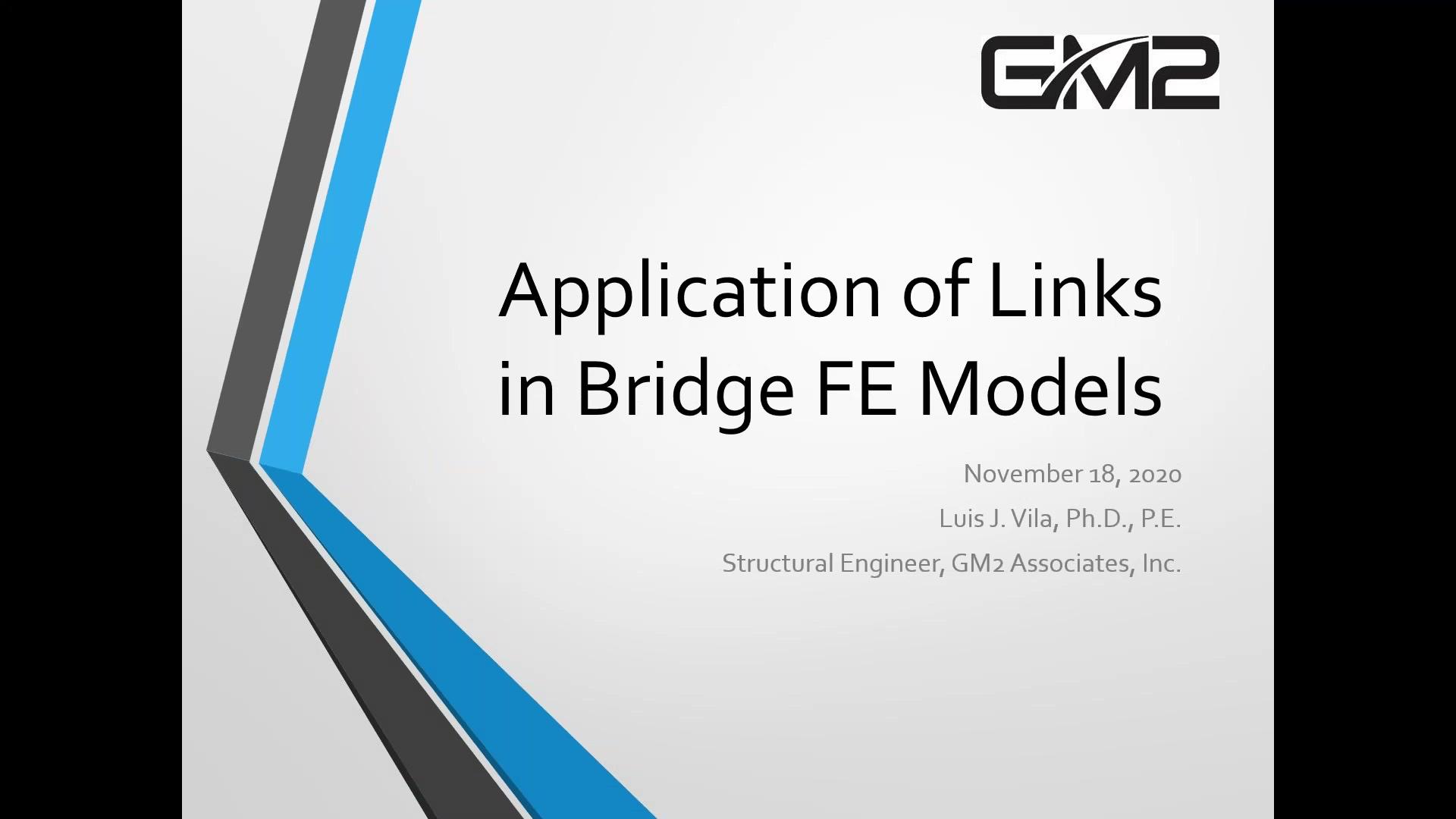 Application of Links in Bridge FE Models