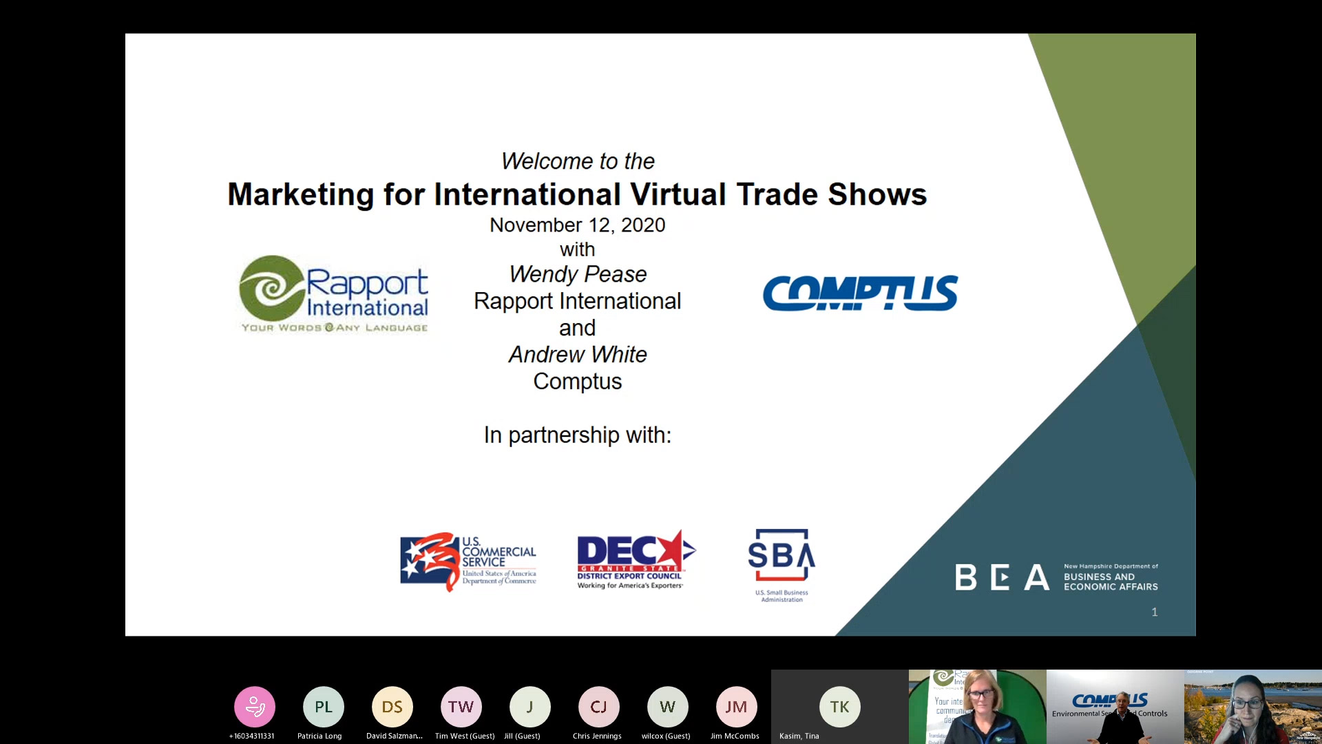 Marketing for International Virtual Trade Shows with slides