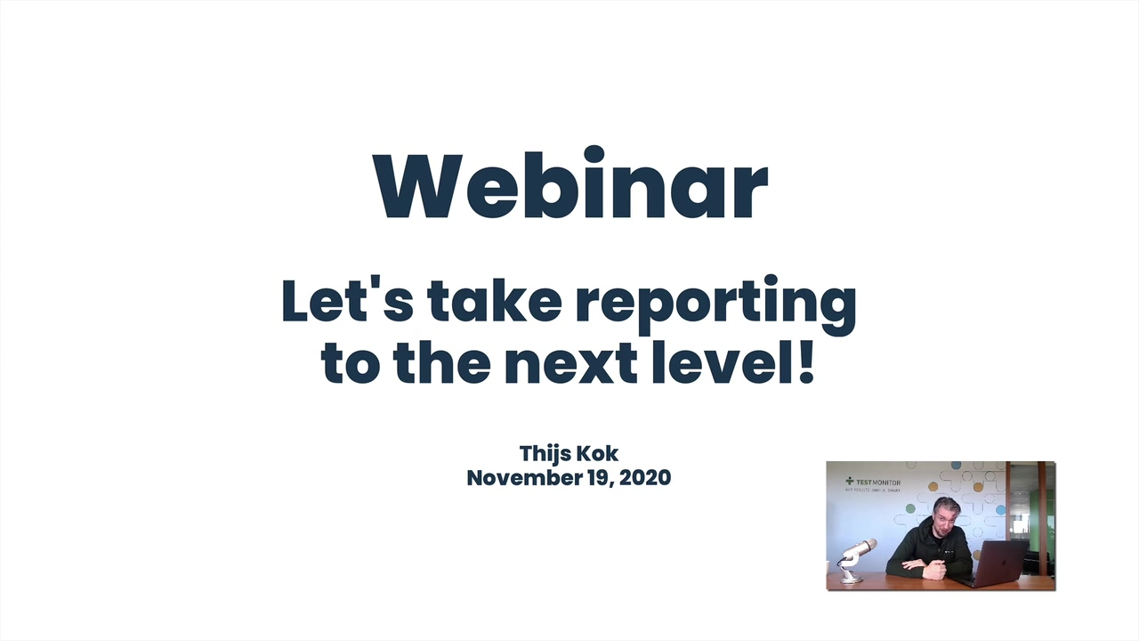 Webinar - Lets take reporting to the next level