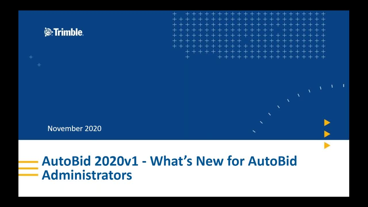 What's New in AutoBid 2020v1 for AutoBid Administrators