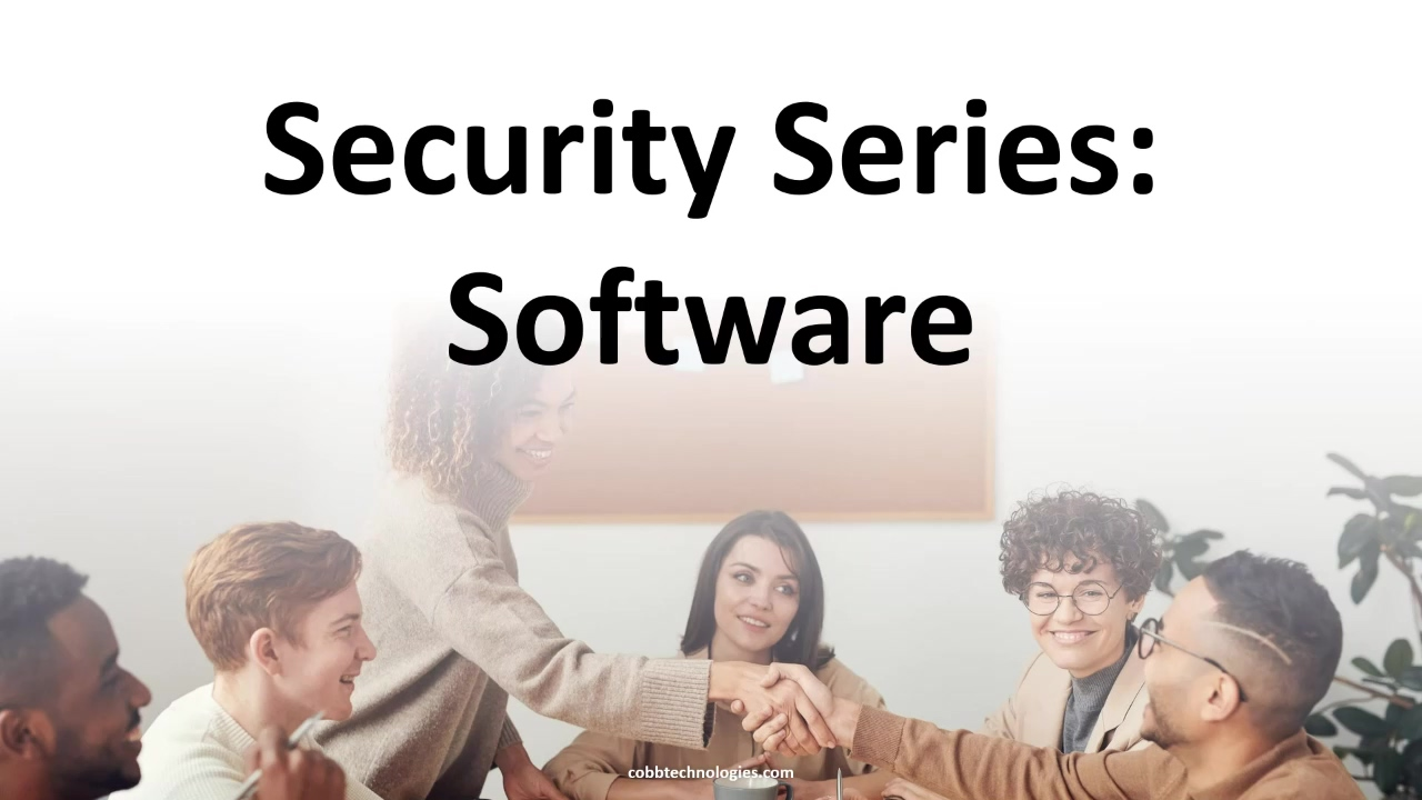 Coffee With Cobb 11.19.2020 Security Series, Software