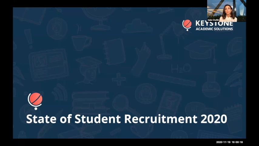 State of Student Recruitment 2020 Webinar (November 19 2020)