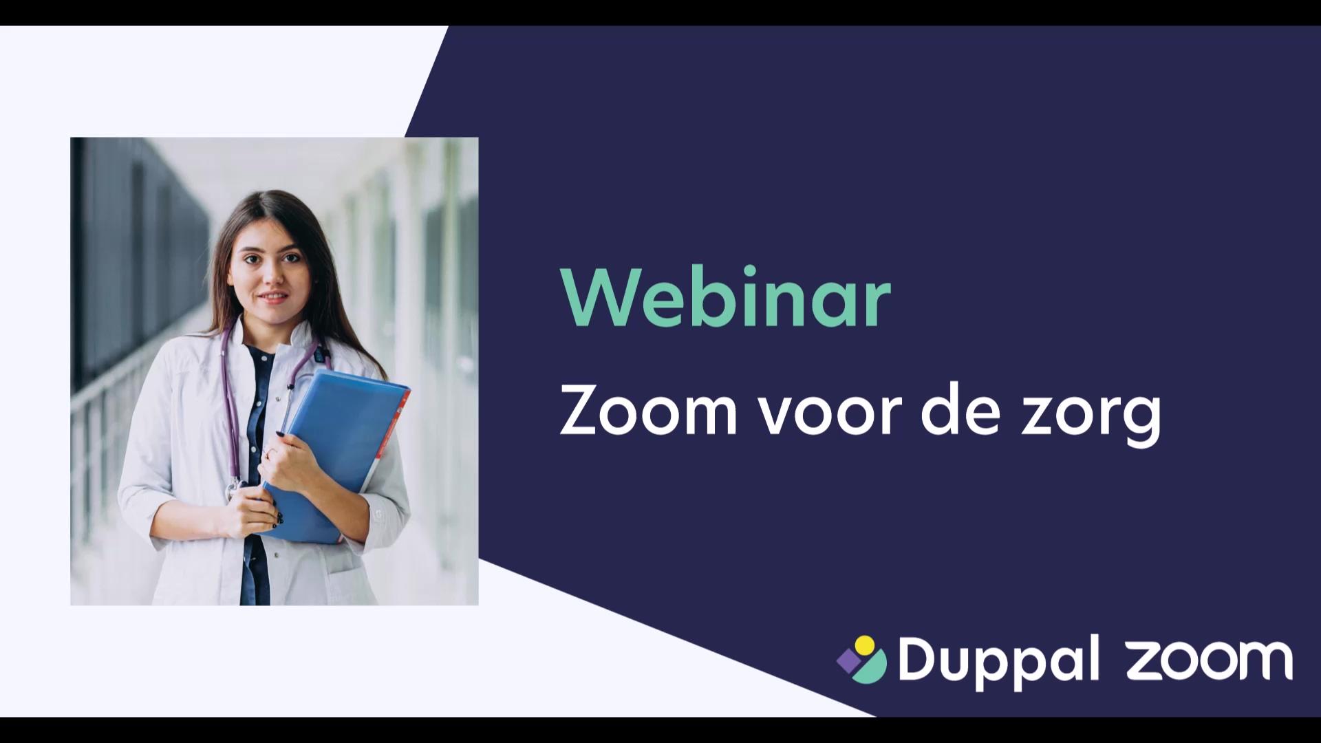 Duppal webinar - Zoom zorg