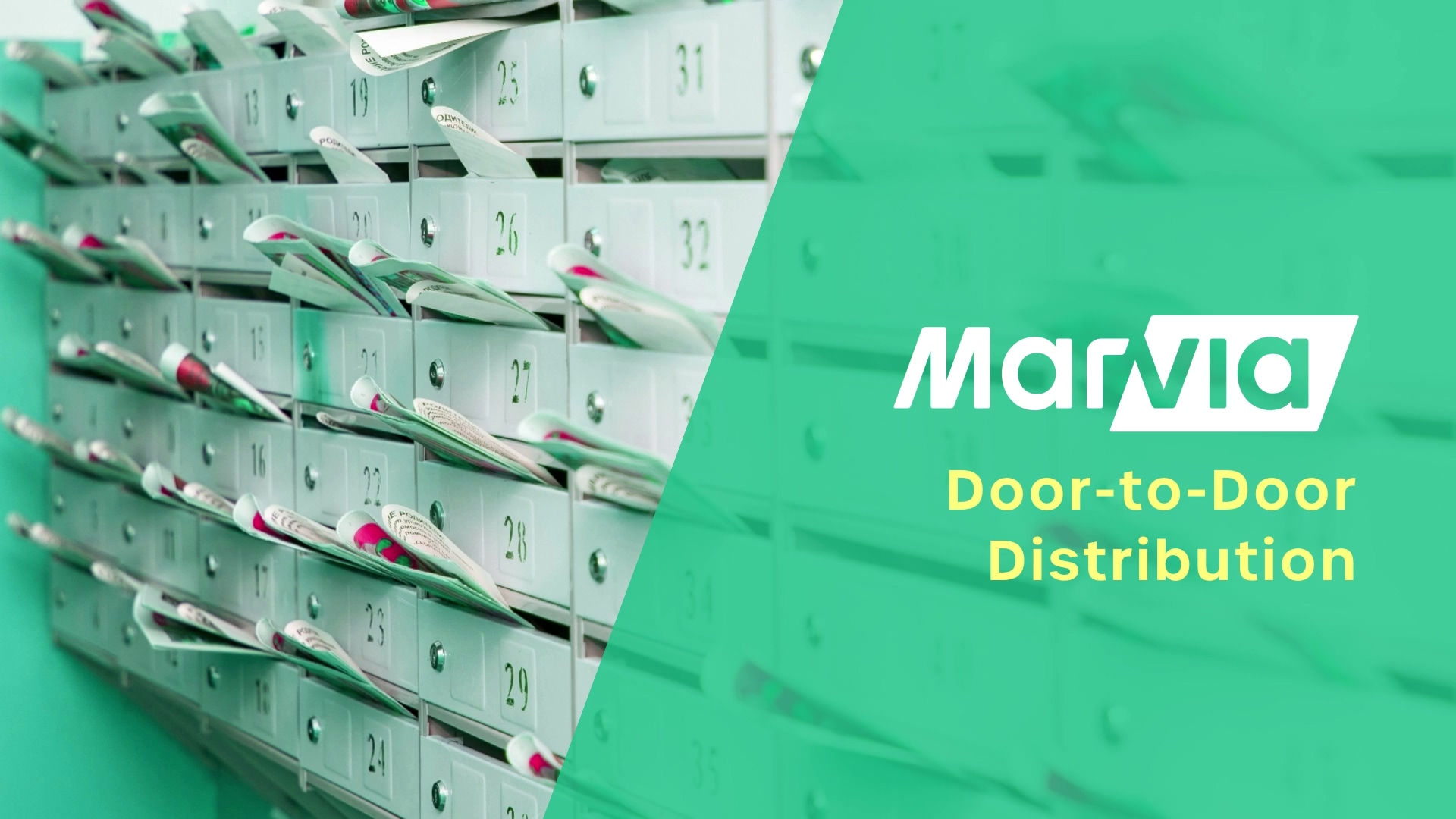 Door to Door distribution Marvia