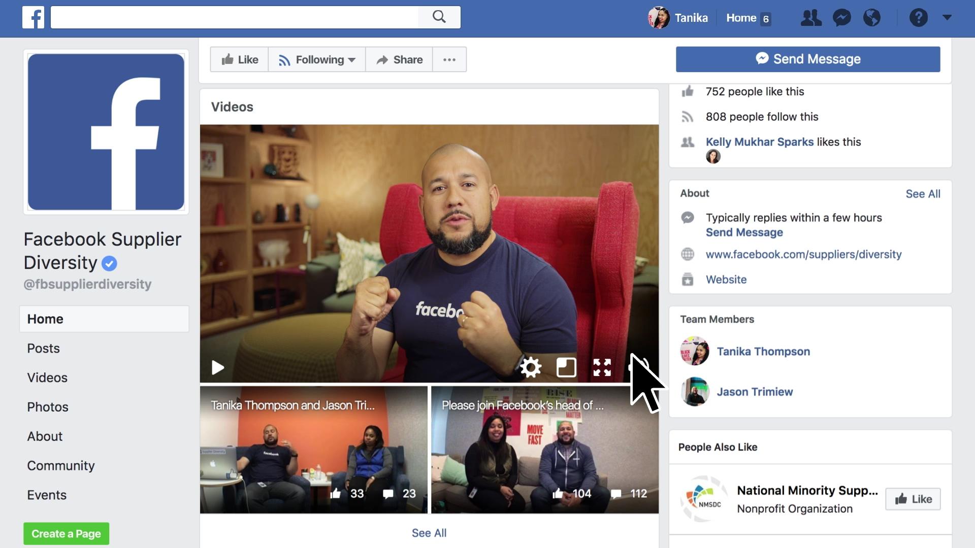 Facebook Supplier Diversity VMG Studios