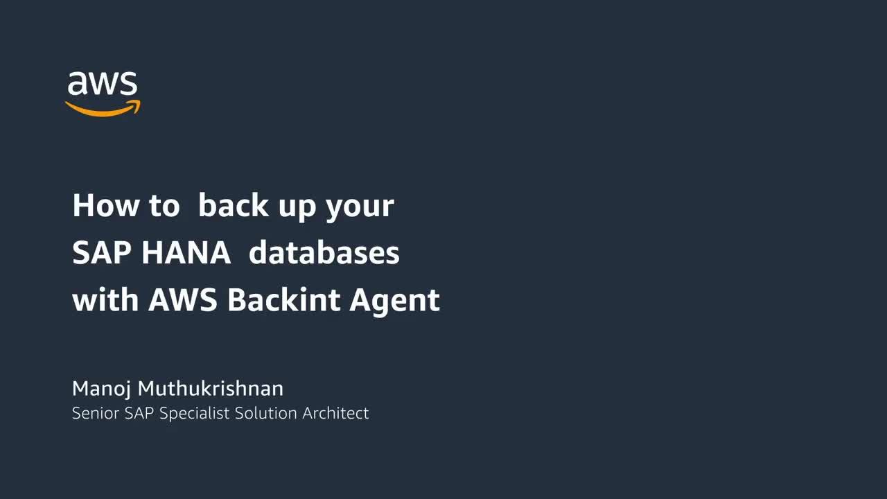 AWS Backint Agent for SAP