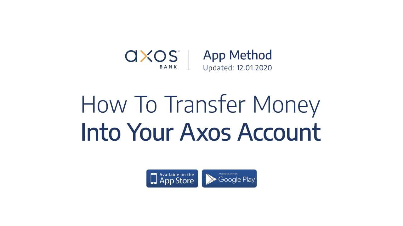 How to Transfer Money into Your Axos Account