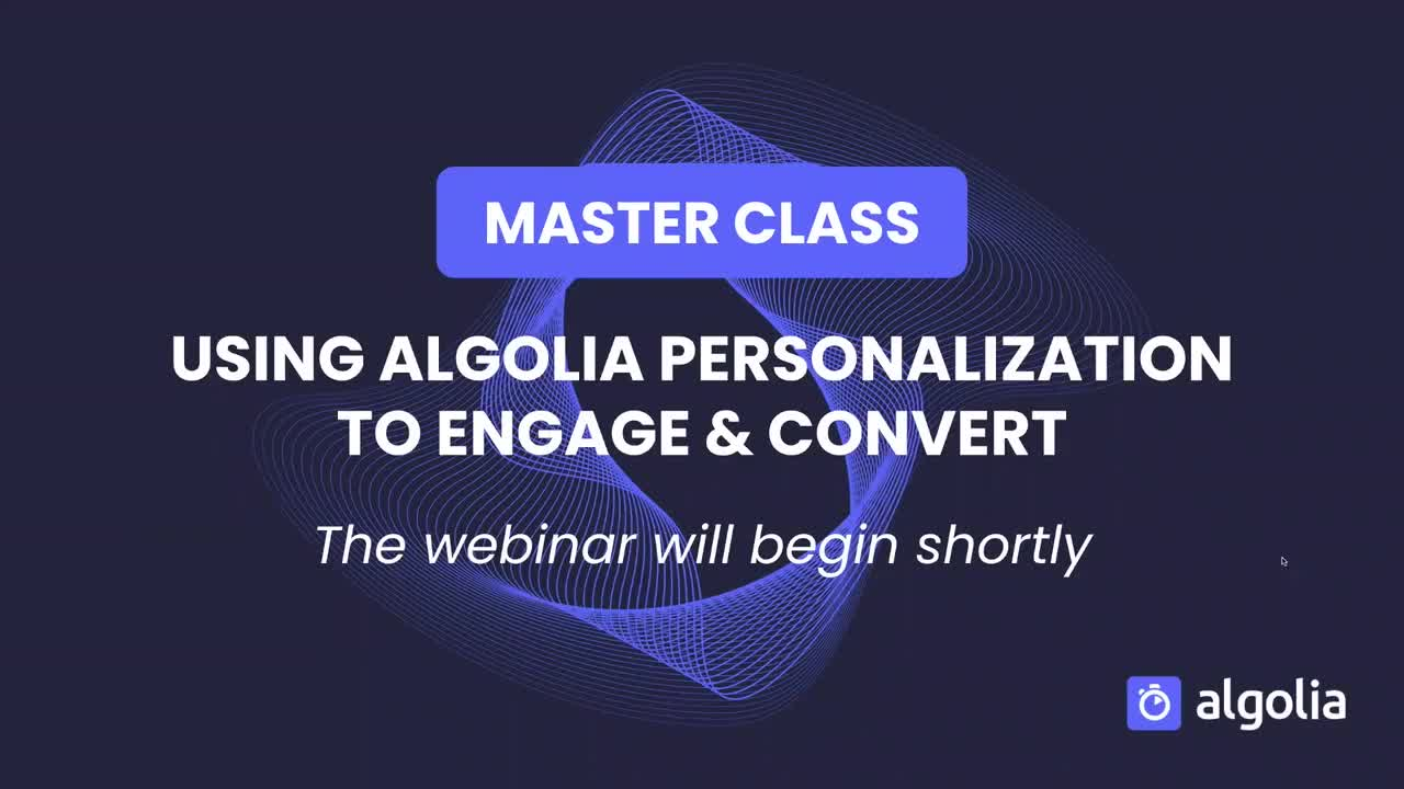 """illustration for: 'Master Class: Using Algolia Personalization to engage and convert'"""""""