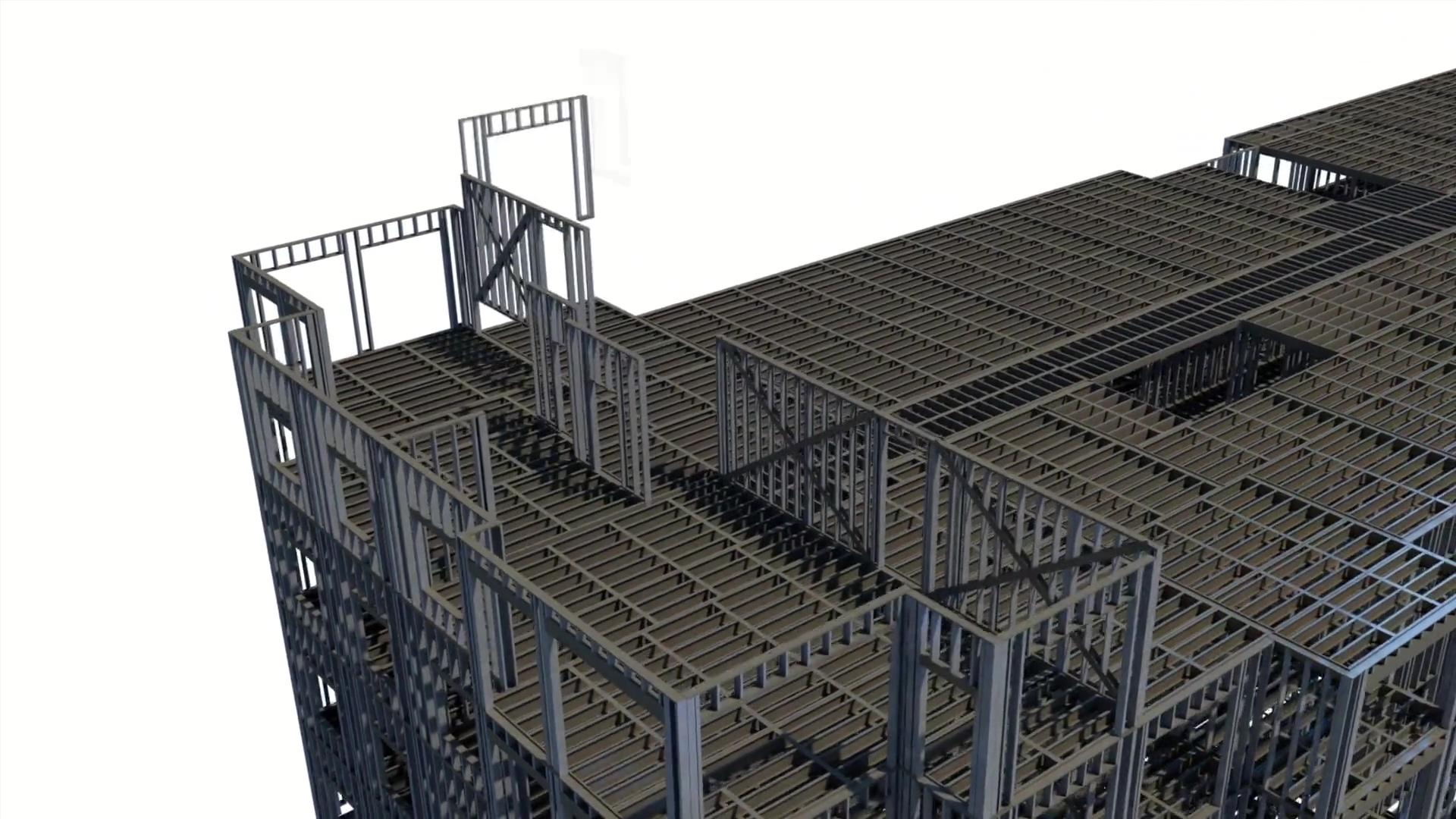 3D Prefab CFS Apartment Video
