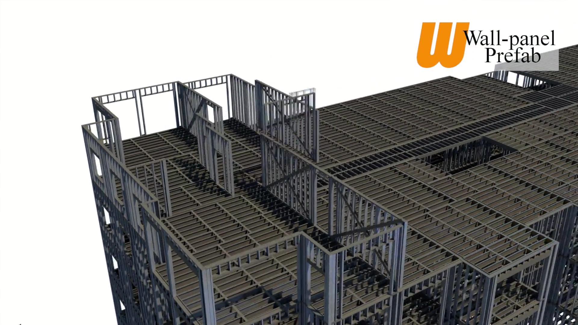 3D Prefab CFS Apartment Video Wall-panel Prefab