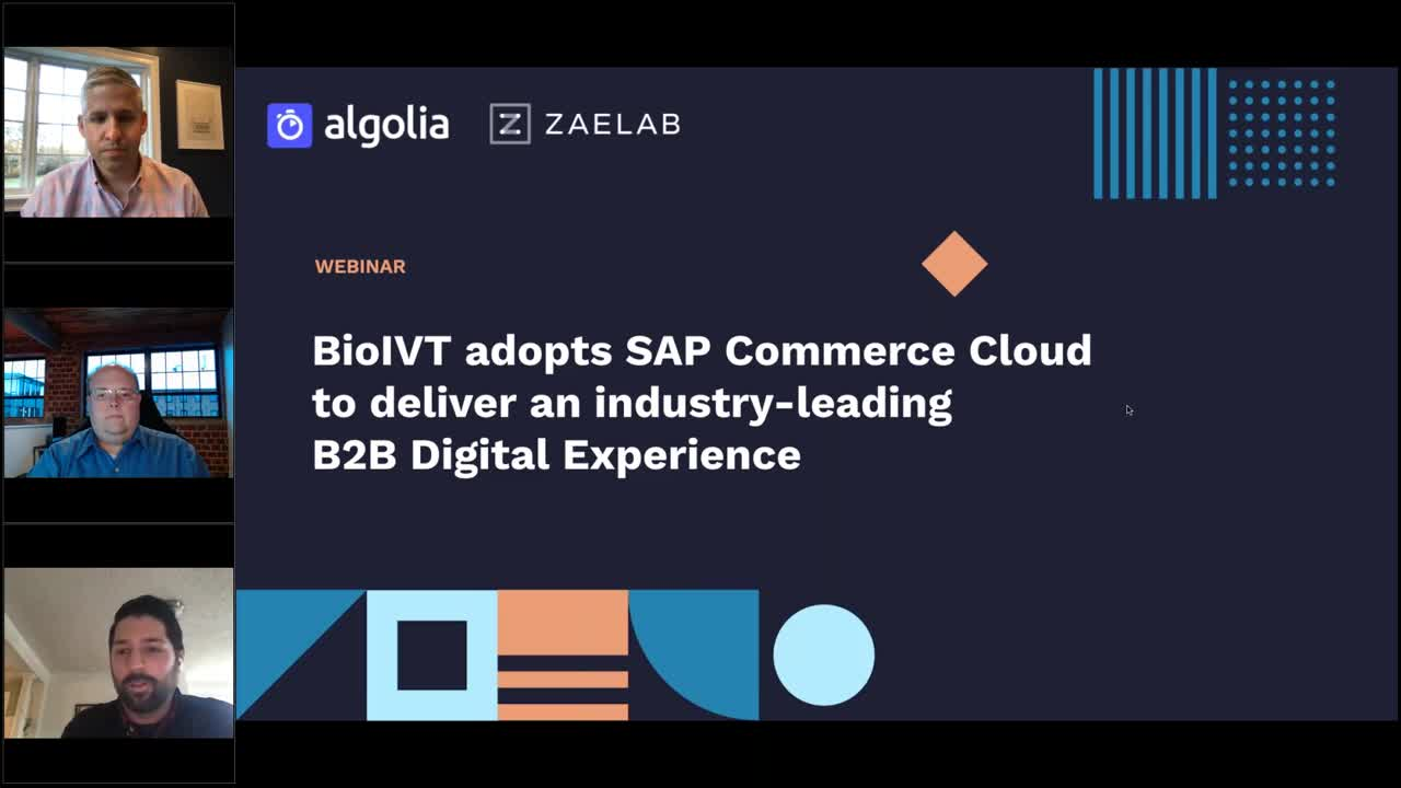 illustration for: 'BioIVT adopts SAP Commerce Cloud to deliver an industry-leading B2B digital experience'""