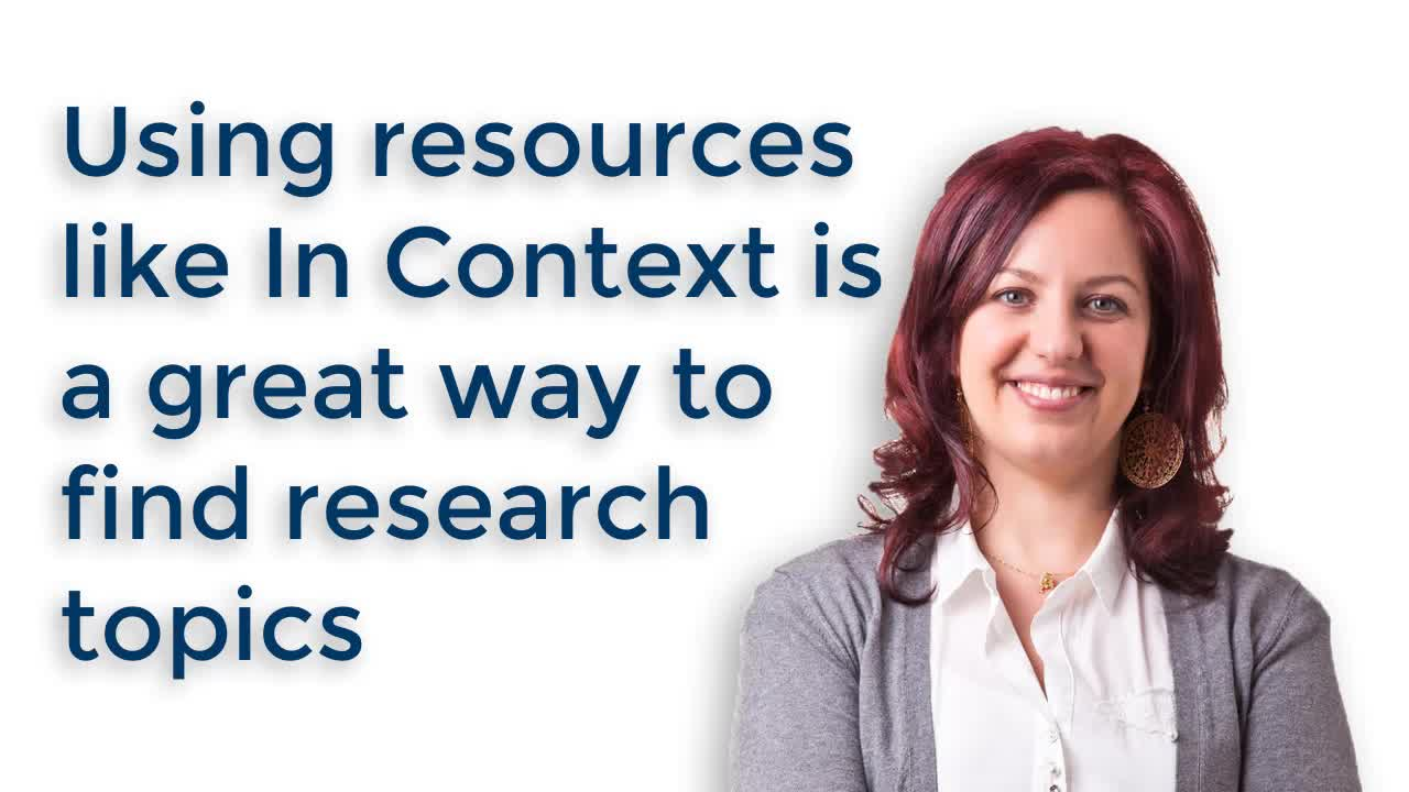 Research - Where to Start When You Need a Research Topic