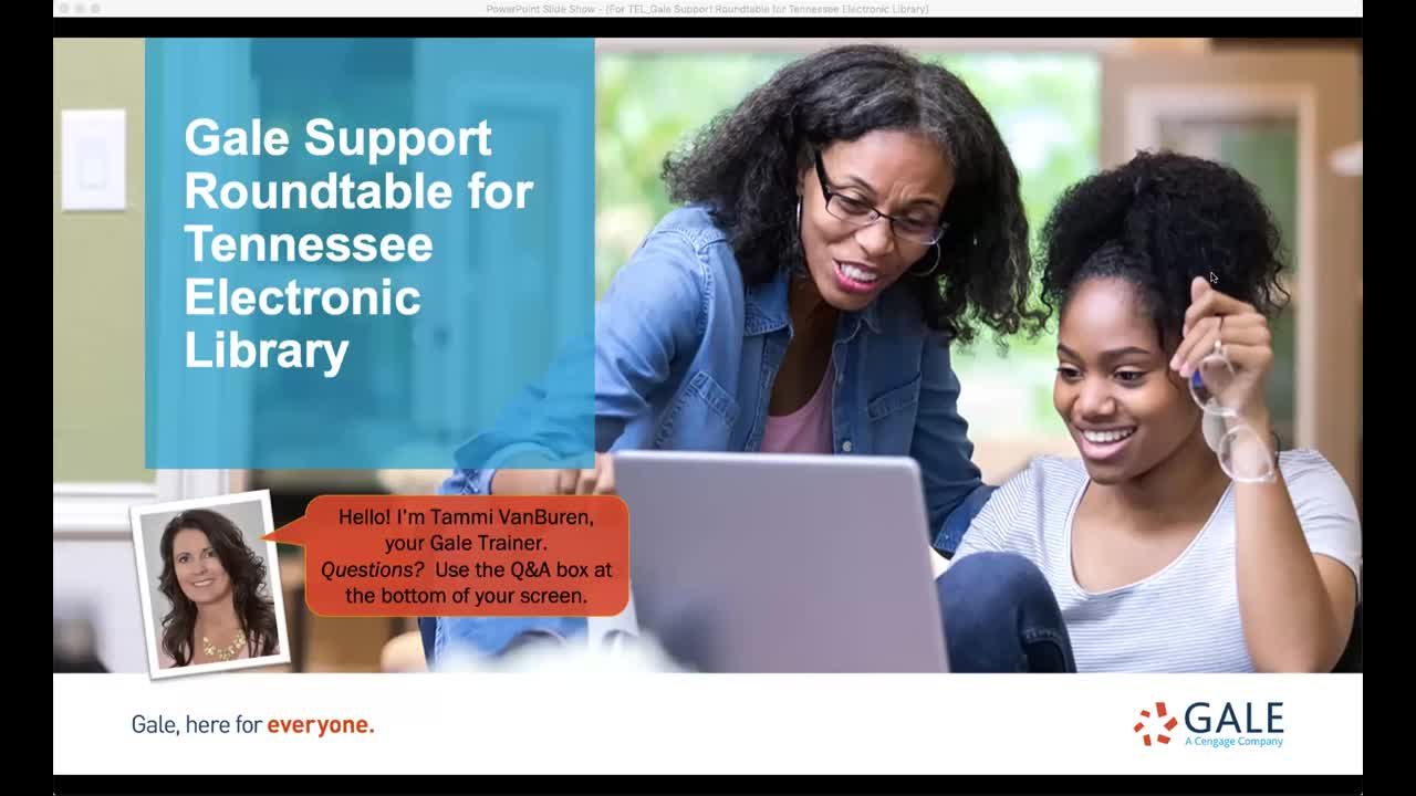 For TEL: Gale Support Roundtable for Tennessee Electronic Library</p></i></b></u></em>