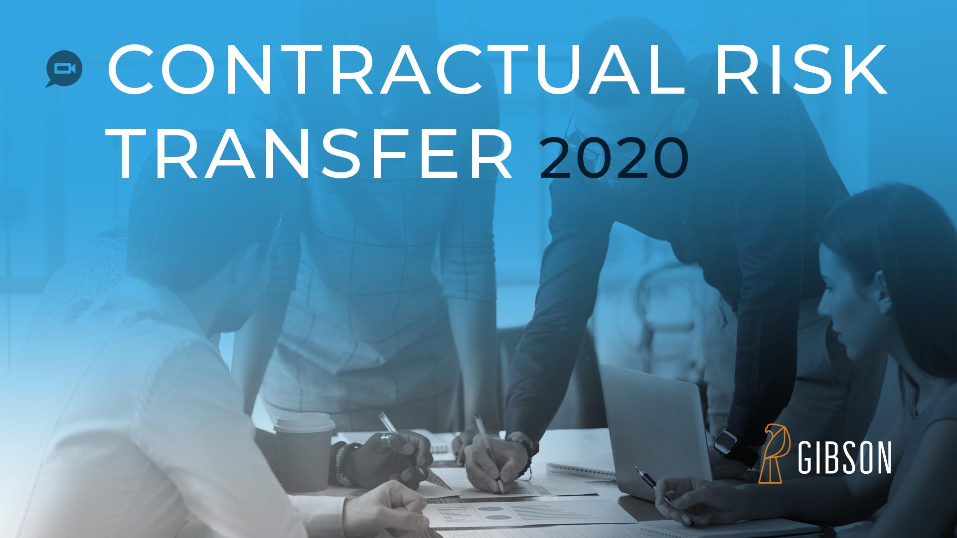 Contractual Risk Transfer 2020