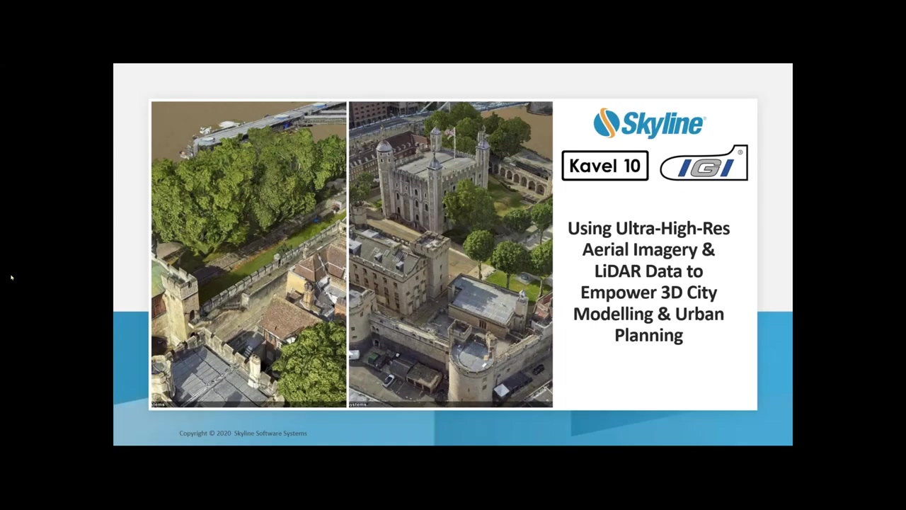 Making Ultra Realistic Digital City Twins Operational by Skyline Software Systems, Kavel 10 and IG