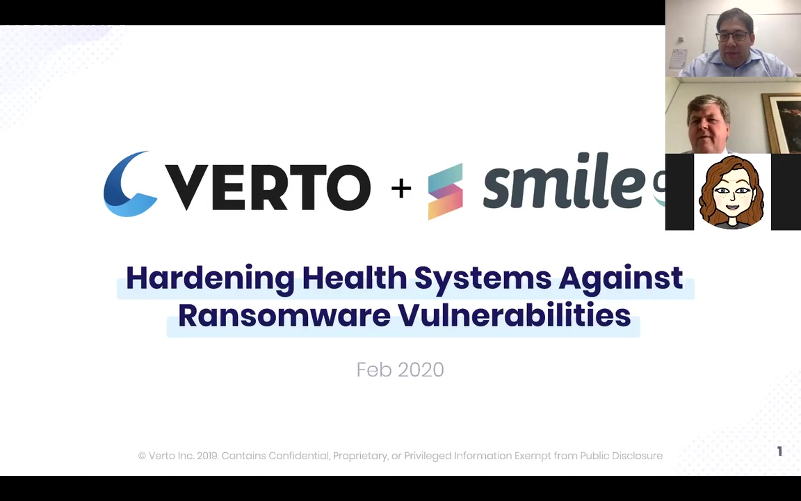 Verto & Smile CDR - Hardening Health Systems Against Ransomware Vulnerabilities