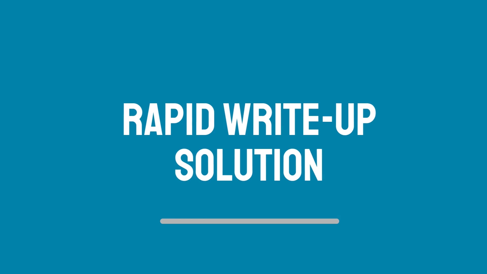 Rapid Write-up Solution Video