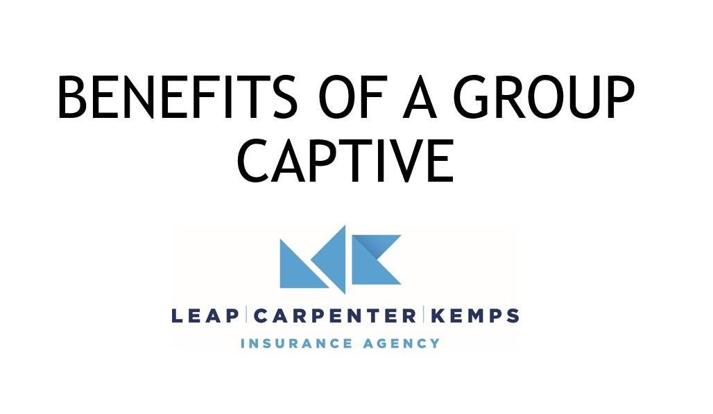 Benefits of a group Captive JL