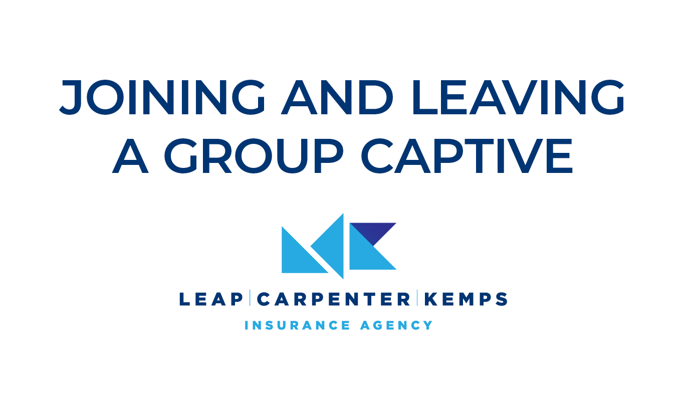Joining and Leaving A Group Captive JL