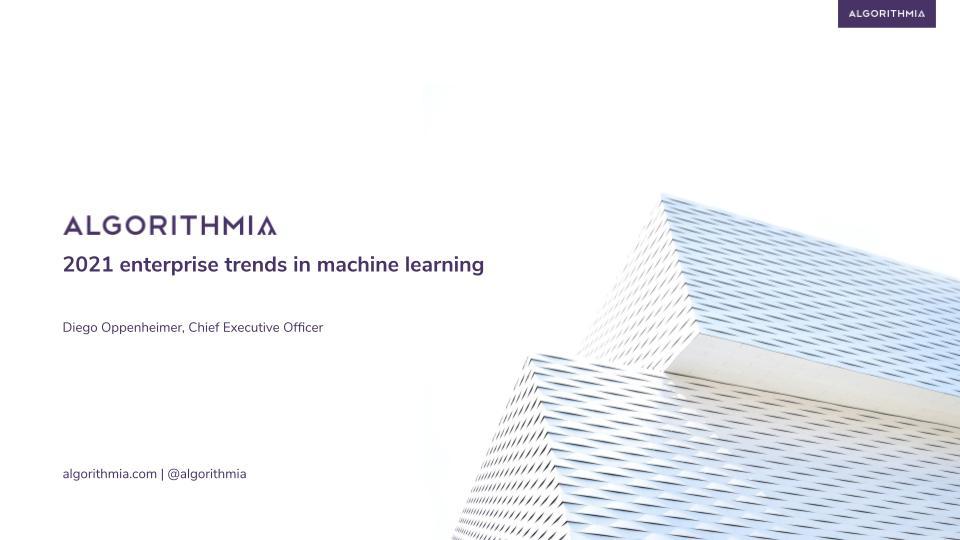2021 enterprise trends in ML recording