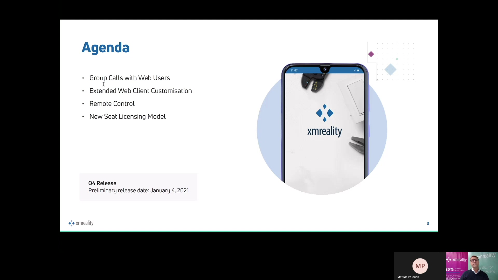 XMReality Q4 2020 Product release walk-through