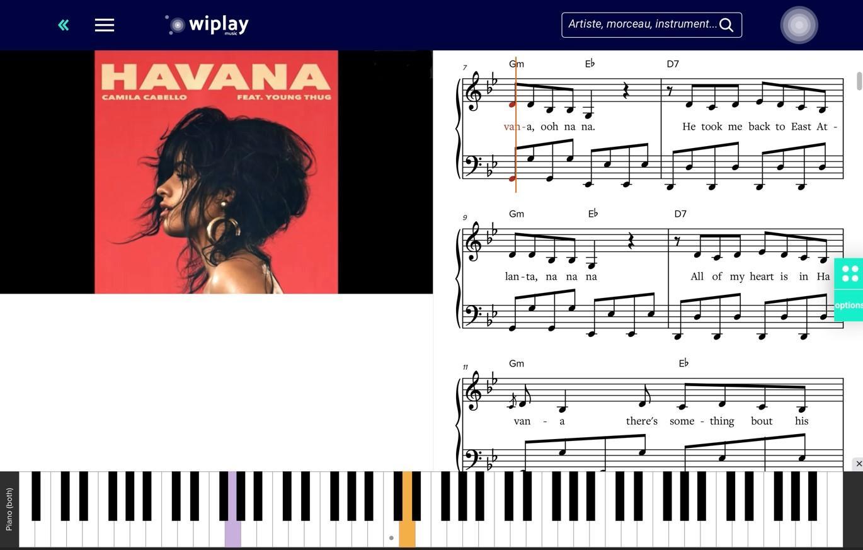 5. Player Havana avec commentaires