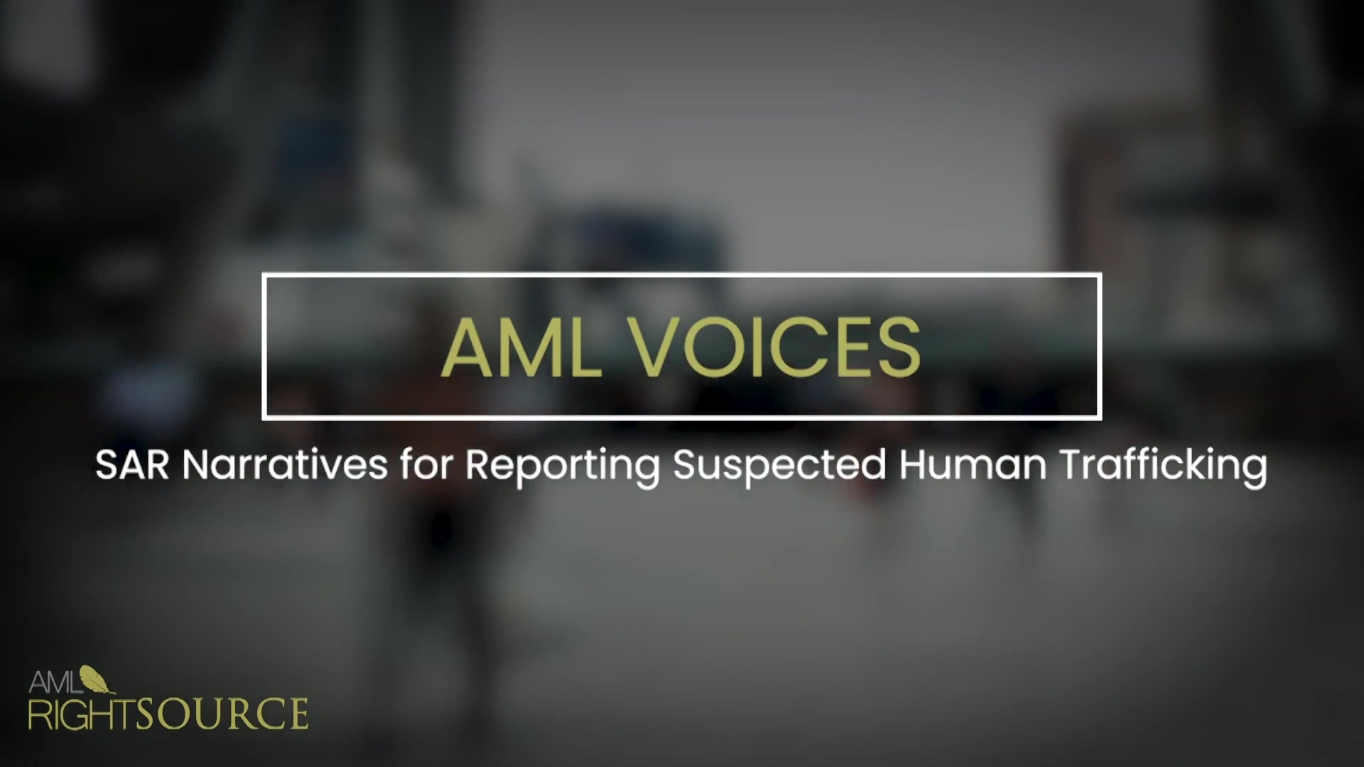 SAR Narratives for Reporting Suspected Human Trafficking